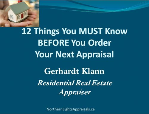 12 things you must know before you order your next appraisal! Webinar with Gerhardt Klann